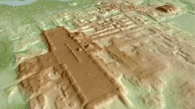Researchers discover a massive ceremonial structure of the ancient Mayans using lasers.