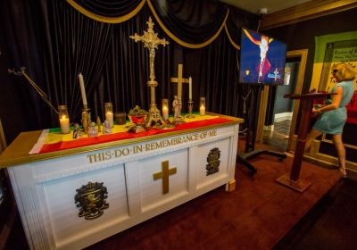 Altar in the Coachella Valley Church in San Jose, Calif.