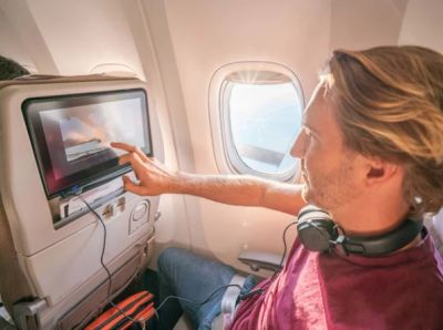 Cameras are a standard feature on many in-flight entertainment systems used by multiple airlines