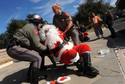Santa gets booked after his latest caper