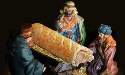 The bakery put a sausage roll in the manger in one of its ads – and prompted the kind of misguided, humourless reaction that gives us Christians a bad name
